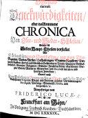 Schlesiens curieuse Denckwürdigkeiten, oder vollkommene Chronica von Ober- und Nieder-Schlesien, welche in sieben Haupt-Theilen vorstellet alle Fürstenthümer und Herrschaften, etc. Ausgefertiget von F. Lucae