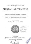 The teacher s manual of mental arithmetic