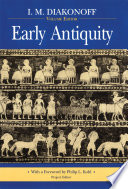 Early Antiquity : gathered the work of soviet historians in this...