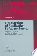 The Sourcing Of Application Software Services