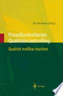 Proze  orientiertes Qualit  tscontrolling
