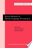 Recent Advances in Natural Language Processing