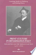 Print Culture in Renaissance Italy