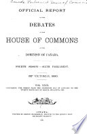 Book House of Commons Debates  Official Report