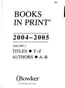 Books in Print  2004 2005