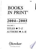 Books in Print, 2004-2005