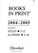 books in print 2004 2005
