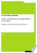 Alcune considerazioni su Nagib Mahfuz e le sue opere