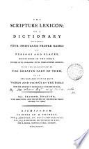 The Scripture Lexicon
