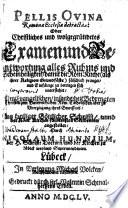 Pellis ovina Romanae ecclesiae detracta oder christliches ... Examen und Beantwortung alles Ruhms und Scheinheiligkeit, damit die Röm. Kirche ... pranget ...