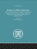 Essays on a Mature Economy: Britain After 1840