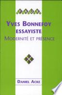 Yves Bonnefoy  essayiste