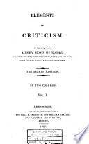 Elements of Criticism