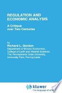 Regulation and Economic Analysis