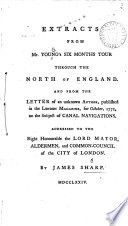 download ebook extracts from mr. young's six months tour through the north of england. and from the letter of an unknown author, published in the london magazine, for october, 1772, on the subject of canal navigations. ... by james sharp pdf epub