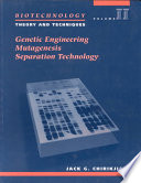 Biotechnology Genetic Engineering Mutagenesis Separation Technology