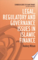 Legal Regulatory And Governance Issues In Islamic Finance book
