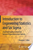 Introduction To Engineering Statistics And Six Sigma