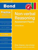 New Bond Assessment Papers Non-Verbal Reasoning 8-9 Years