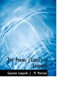 The Poems   Canti   of Leopardi
