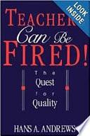 Teachers Can be Fired