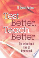 Test Better  Teach Better