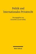 Politik und Internationales Privatrecht