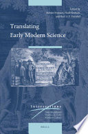 Translating Early Modern Science