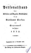 Personalstand der Säkular- und Regular-Geistlichkeit der Diözese Seckau in Steiermark