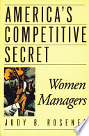 America's Competitive Secret : ready and willing to move into the...