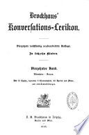 Brockhaus  Konversations Lexikon