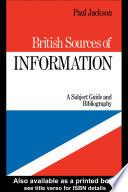 British Sources Of Information
