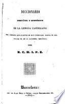 Diccionario portátil y económico de la lengua castellana