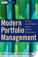 Modern Portfolio Management Book PDF