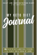 My Keto Diet Journal Daily Low Carb Nutrition Diary 6 X 9 Green Stripes