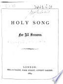 Holy Song for All Seasons