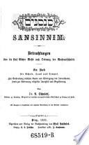 Sansinim  Betrachtungen   ber die 5 B  cher Mosis nach Ordnung der Wochenabschnitte