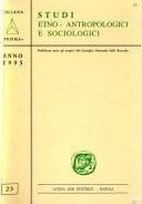 Studi etno antropologici e sociologici
