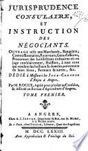 illustration Jurisprudence consulaire, et instruction des négociants