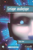illustration du livre Lexique analogique
