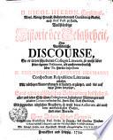Nicol. Hieron. Gundlings ... Vollständige Historie der Gelahrtheit oder ausführliche Discourse, so er in verschiedenen Collegiis Literariis