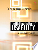 Institutionalization of Usability