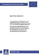 Legislatives Unrecht und EU-Amtshaftungsanspruch