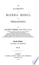 The Elements Of Materia Medica And Therapeutics Second Edition Enlarged And Improved