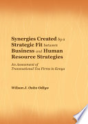 Synergies Created by a Strategic Fit between Business and Human Resource Strategies