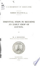 Essential Steps in Securing an Early Crop of Cotton