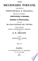 Novo Diccionario Portatil Das Linguas Portugueza E Ingleza Resumido Do Diccionario De Vieira