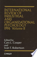 International Review Of Industrial And Organizational Psychology 1996