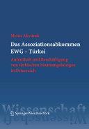 Das Assoziationsabkommen EWG - Türkei