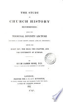 The Study Of Church History Recommended Lecture